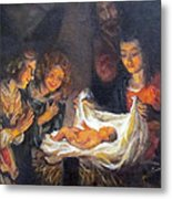 Nativity Scene Study Metal Print