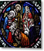 Nativity With Kings Metal Print