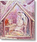 Nativity With Two Angels Metal Print