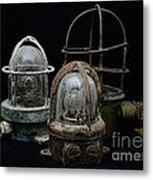 Natuical - Vintage Ship Deck Lights Metal Print