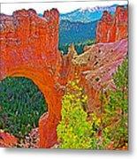 Natural Bridge In Bryce Canyon National Park-utah  Metal Print