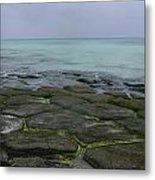 Natural Forming Pentagon Rock Formations Of Kumejima Okinawa Japan Metal Print