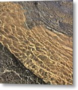 Nature Abstract - Clear Lake Tahoe Water  Metal Print