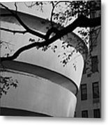 Nature And Architecture In Black And White Metal Print