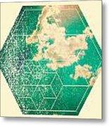 Nature And Geometry - The Sky Metal Print