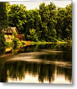Nature Center Salt Creek In August Metal Print