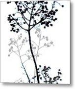 Nature Design Black And White Metal Print
