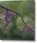 Nature Does Not Hurry Blossoms In Purple Metal Print