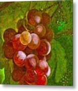 Nature Goodness Grapes On The Vine Metal Print