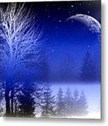 Nature In Blue  Metal Print