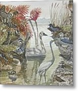 Nature Scene And Unseen Metal Print