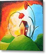 Nature Spills Colour On My House Metal Print