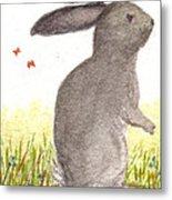 Nature Wild Rabbit Metal Print