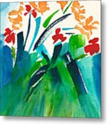 Natures Bouquet Abstract Metal Print
