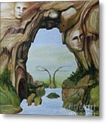 Natures Faces Metal Print