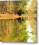 Nature's Green And Gold Metal Print
