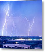 Natures Light Show Over The Boulder Reservoir  Metal Print by James BO  Insogna