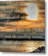 Natures Melody With Text Metal Print