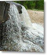 Natures Water Fountain Metal Print