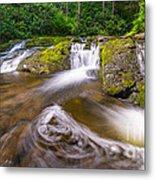 Nature's Water Slide Metal Print