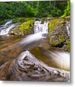 Nature's Water Slide Tilt Shift Metal Print