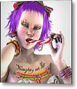 Naughty Xmas Metal Print by Frederico Borges