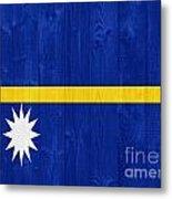 Nauru Flag Metal Print