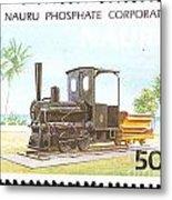 Nauru Island Stamp Metal Print