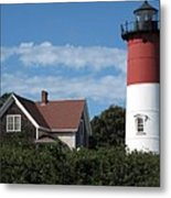 Nauset Light Metal Print