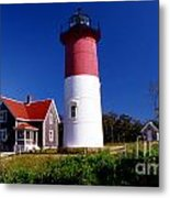 Nausett Lighthouse Metal Print