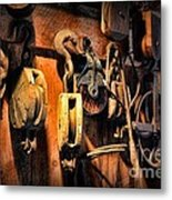 Nautical - Boat - Block And Tackle  Metal Print
