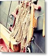 Nautical Rope Metal Print