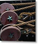 Nautical Ties Metal Print