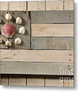 Nautical Wood Flag 01 Metal Print