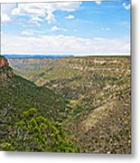 Navajo Canyon Overlook On Chapin Mesa Top Loop Road In Mesa Verde National Park-colorado Metal Print