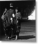 Navajo's Dance  Night Fire Rodeo Grounds Inter-tribal Indian Rodeo Gallup New Mexico 1969 Metal Print
