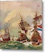 Naval Battle Off Texel A French Fleet Metal Print