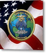 Naval Special Warfare Group Four - N S W G-4 - Over U. S. Flag Metal Print