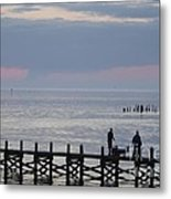 Navarre Beach Sunset Pier 10 Metal Print