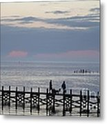 Navarre Beach Sunset Pier 11 Metal Print