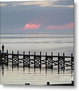 Navarre Beach Sunset Pier 17 Metal Print