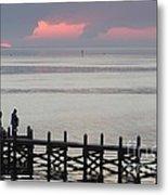 Navarre Beach Sunset Pier 20 Metal Print