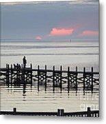 Navarre Beach Sunset Pier 21 Metal Print