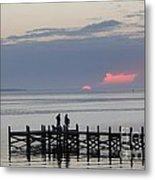 Navarre Beach Sunset Pier 22 Metal Print