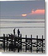Navarre Beach Sunset Pier 27 Metal Print