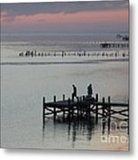 Navarre Beach Sunset Pier 30 Metal Print