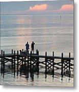 Navarre Beach Sunset Pier 35 Metal Print