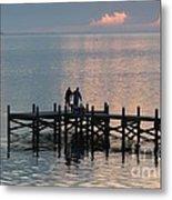 Navarre Beach Sunset Pier 37 Metal Print