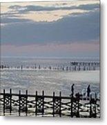 Navarre Beach Sunset Pier 8 Metal Print