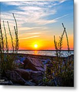 Navarre Fl Sunset 2014 07 29 A Metal Print